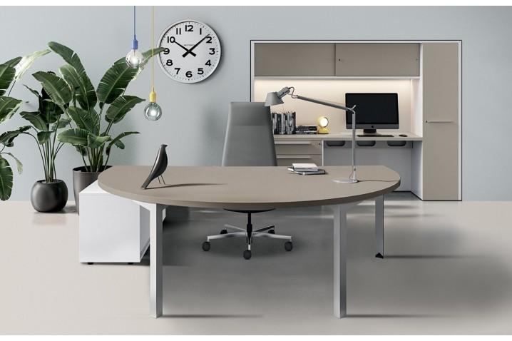Tavolo scrivania con piano sagomato