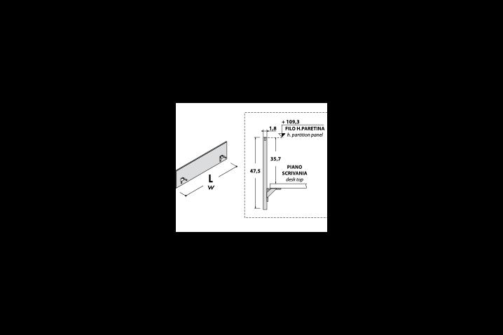 Pannello frontale per scrivanie Oxi