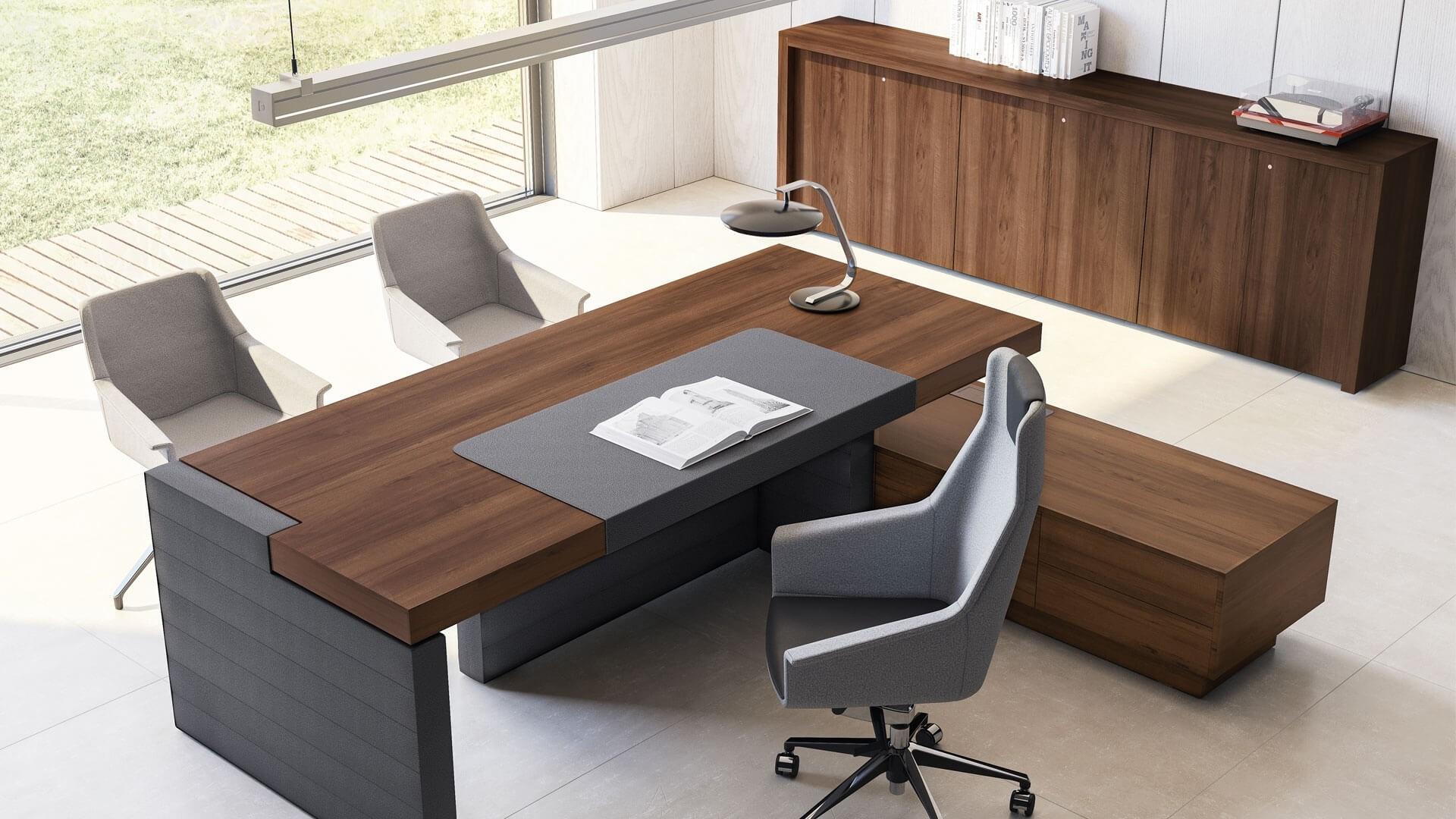 Scrivania direzionale jera mobili per ufficio for Dimensioni mobili ufficio
