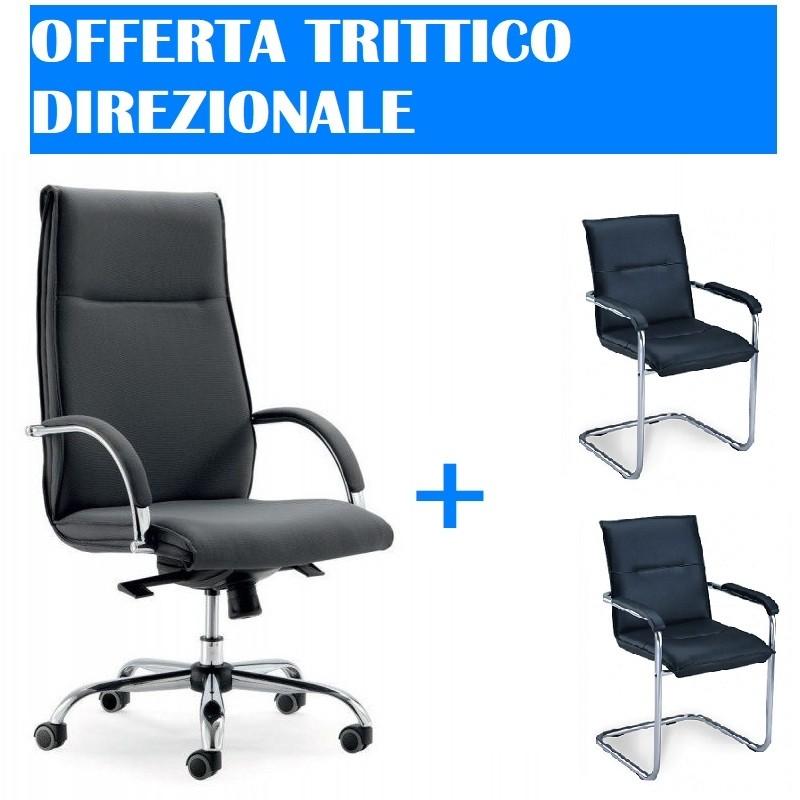 Sedie Ufficio In Offerta.Offerta Trittico Direzionale Mobili Per Ufficio