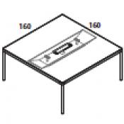 Tavolo Rouge : Variante 160x160