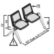 Panca F03: Variante 2 posti