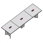 Tavolo riunione executive Elite : Variante 490x140x75