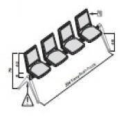 Panca F03: Variante 4 posti
