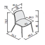 Sedia Vedet: Variante 4 gambe