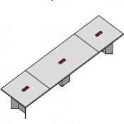 Tavolo riunione executive Elite : Variante 560x140x75