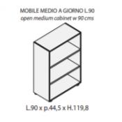 Mobile a giorno : Variante 90xp44,5xh.120