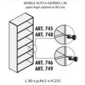 Mobile a giorno : Variante 90xp44,5xh.235
