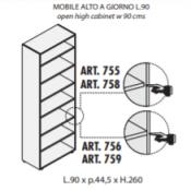 Mobile a giorno : Variante 90xp44,5xh.260