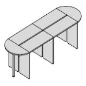Tavolo riunione funny : Variante 432x124