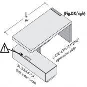 Scrivania direzionale Jera: Variante L.240X198 (allungo sx)