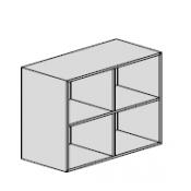 Pensile a giorno : Variante 90x33x83,2