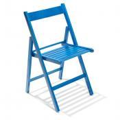 Sedia pieghevole in legno: Variante blu