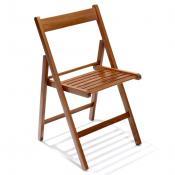 Sedia pieghevole in legno: Variante noce