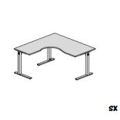 Scrivania Bek: Variante 160x160 sx