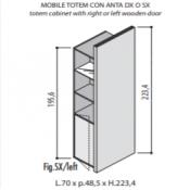 Mobili Totem Jera: Variante 70x48,5x223