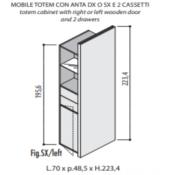 Mobili Totem Jera: Variante 70x48,5x223c