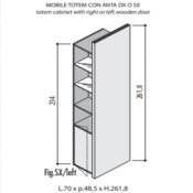 Mobili Totem Jera: Variante 70x48,5x262