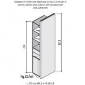 Mobili Totem Jera: Variante 70x48,5x262c